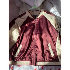 Forever 21 Silk Bomber Jacket